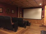 Theater room in our cabin
