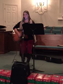 Hannah leading worship